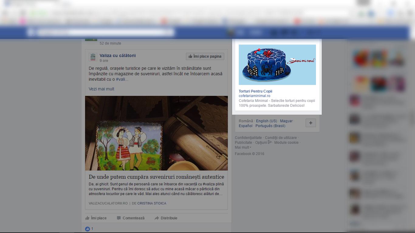Torturii copii – torturi pentru copii, campanie facebook cofetăriile Minimal